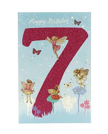 Tarjeta de cumpleaños para niñas de 7 años con diseño de ...