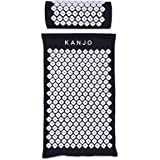 Kanjo Premium Acupressure Mat & Acupressure Pillow Set | High Density Memory Foam Core | 100% Organic Cotton Cover | Relieves