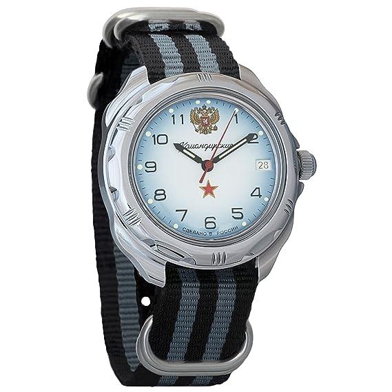 3534557c5381 Vostok Komandirskie Russian Armed Forces Army Mechanical Mens Military  Commander Wrist Watch  211323 (Black+Grey)  Amazon.ca  Watches