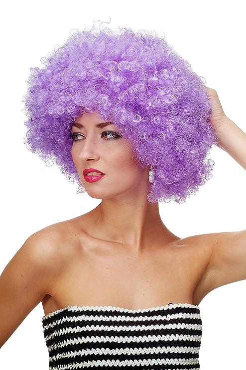 WIG ME UP ® - Peluca afro púrpura Funk Disco años 70 años 80 Foxy Brown PW0011-P08: Amazon.es: Juguetes y juegos