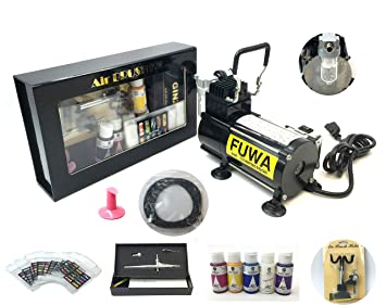 Fuwa Mini Airbrush Compressor Complete System Kit for use on Nails, Tattoo, or Tanning