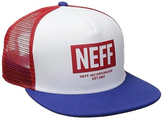 Neff Mens Corpo Trucker Snapback Hat American Red
