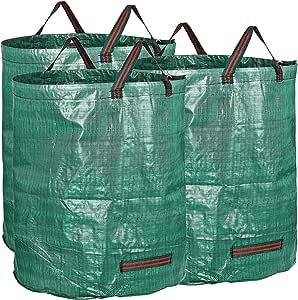 BXWBH - Bolsas de Basura para jardín (3 Unidades, tamaño Grande, 272 L, 76 x 67 cm): Amazon.es: Jardín