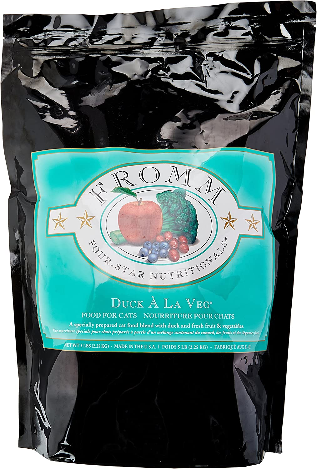 Fromm Four-Star Duck a La Veg Dry Dry Cat Food, 5-Pound Bag