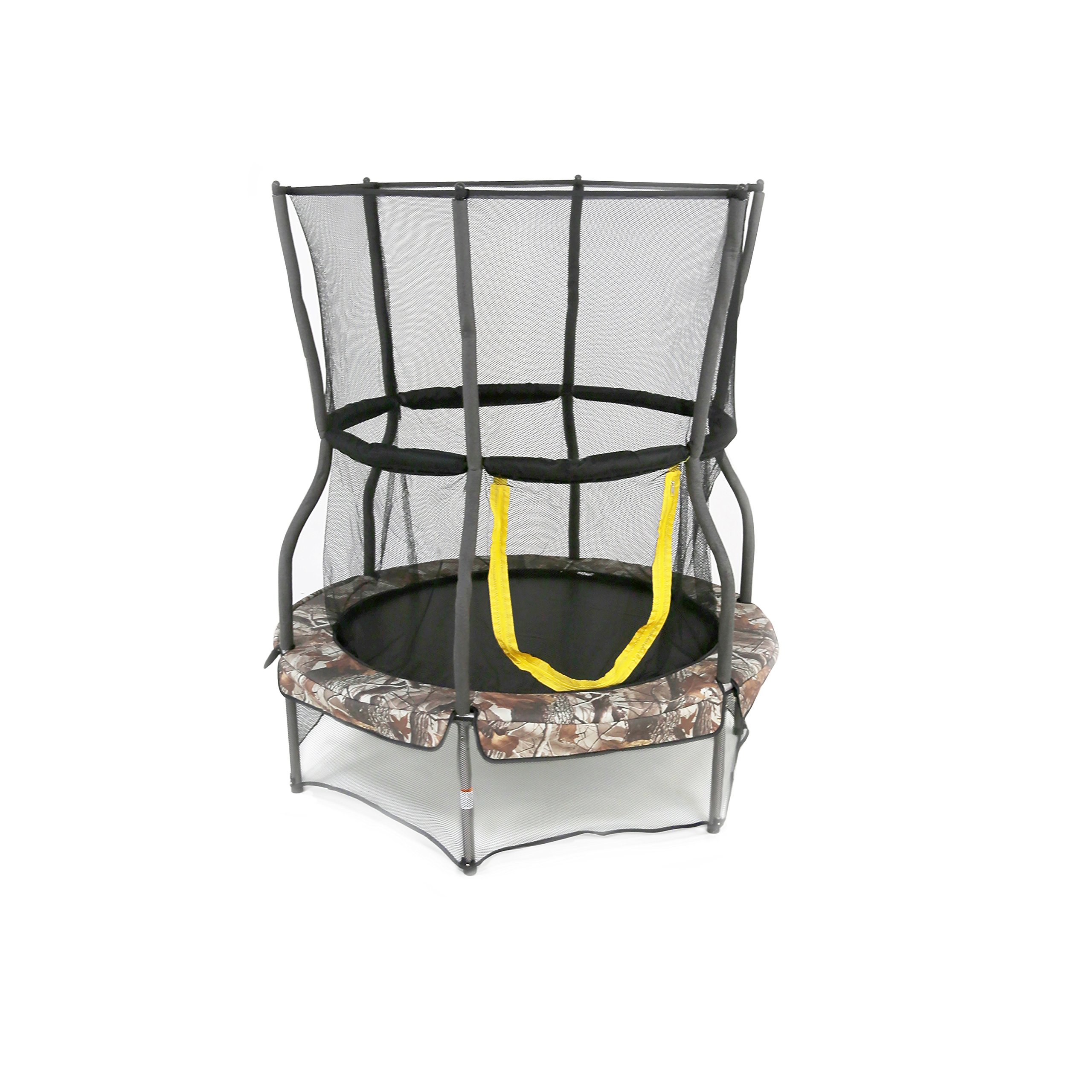 "Skywalker Trampolines 48"" Round Trampoline Mini Bouncer with Enclosure – Camo"