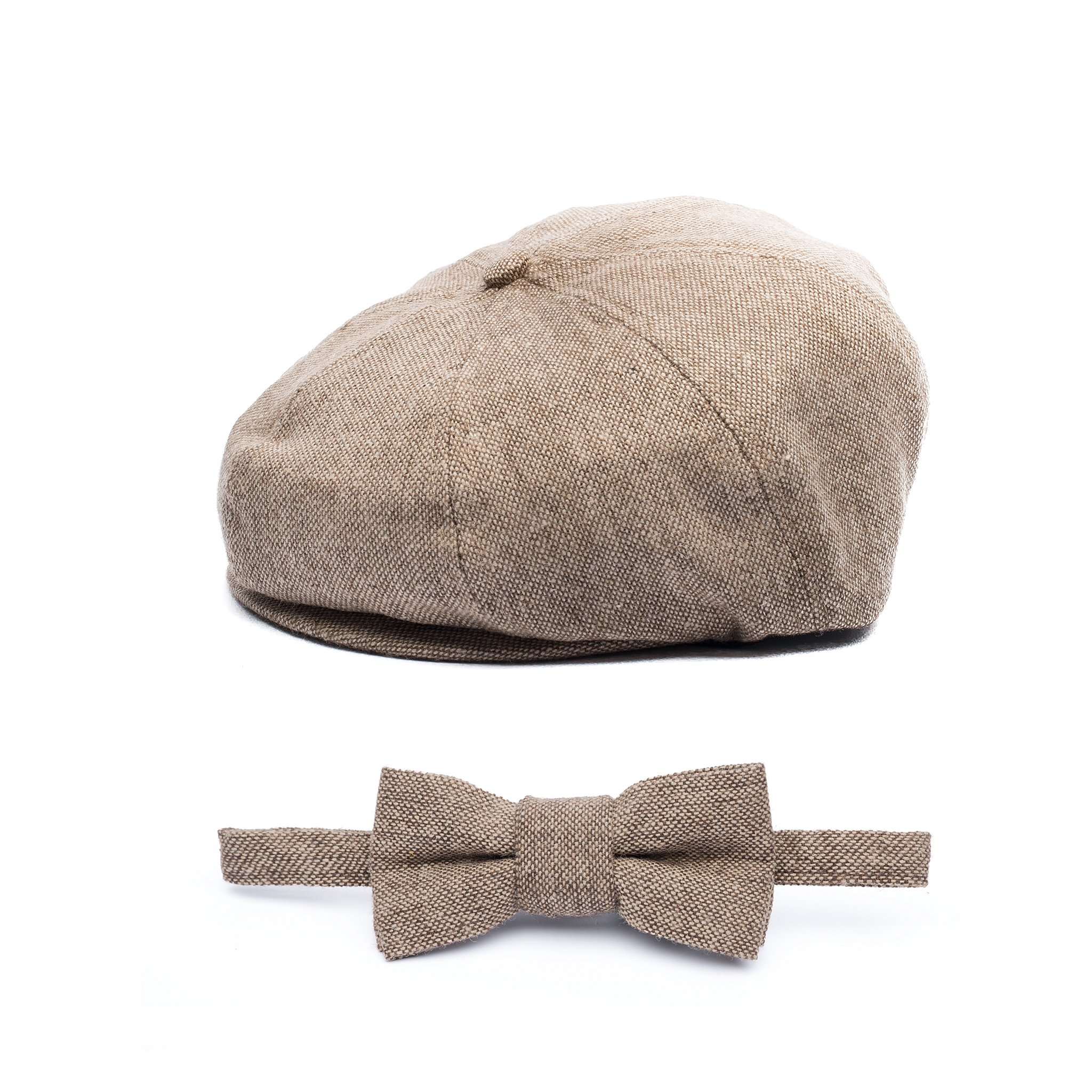 Baby Boy Ring Bearer Pageboy Flat Ivy Newsboy Tweed Golf Cap Hat -(XXS 46 cm)