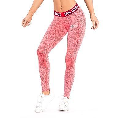 f158404170d05e SMILODOX Sport Leggings Damen 'Slide' | Seamless - Figurformende Leggings  für Sport Fitness Gym