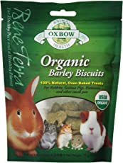 Oxbow Animal Health Barley Biscuits Bene Terra Organic Food and Treats, 2.65-Ounce