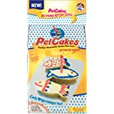 """Petcakes Cat Birthday Cake Kit 859989002778 Diy Healthy Frosted 3 Small Fish Pet Cake, 3.5"""" X 1.5"""" X 1"""""""