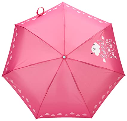 Mr.Wonderful Sorri! A Vida São Dois Dia Paraguas Pequeño, Color Rosa: Amazon.es: Equipaje
