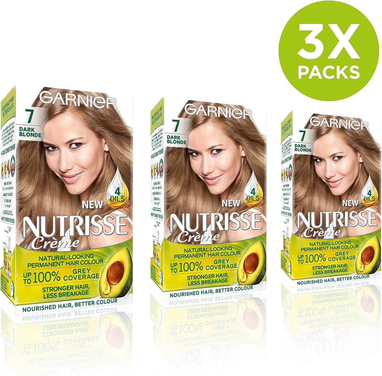 Garnier Nutrisse 7 - Tinte para el cabello permanente, Dark ...