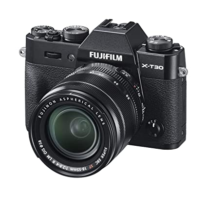 b388518fa49 Fujifilm X-T30   XF 18-55mm lens - Black  Amazon.co.uk  Camera   Photo