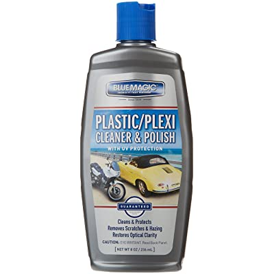 Blue Magic 750-06PK Plastic and Plexiglas Cleaner - 8 oz, (Pack of 6): Automotive