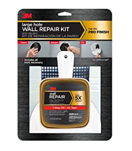 3M Large Hole Wall Repair Kit with 12 fl. oz Compound,Self-Adhesive Back Plate, Putty Knife and Sanding Pad