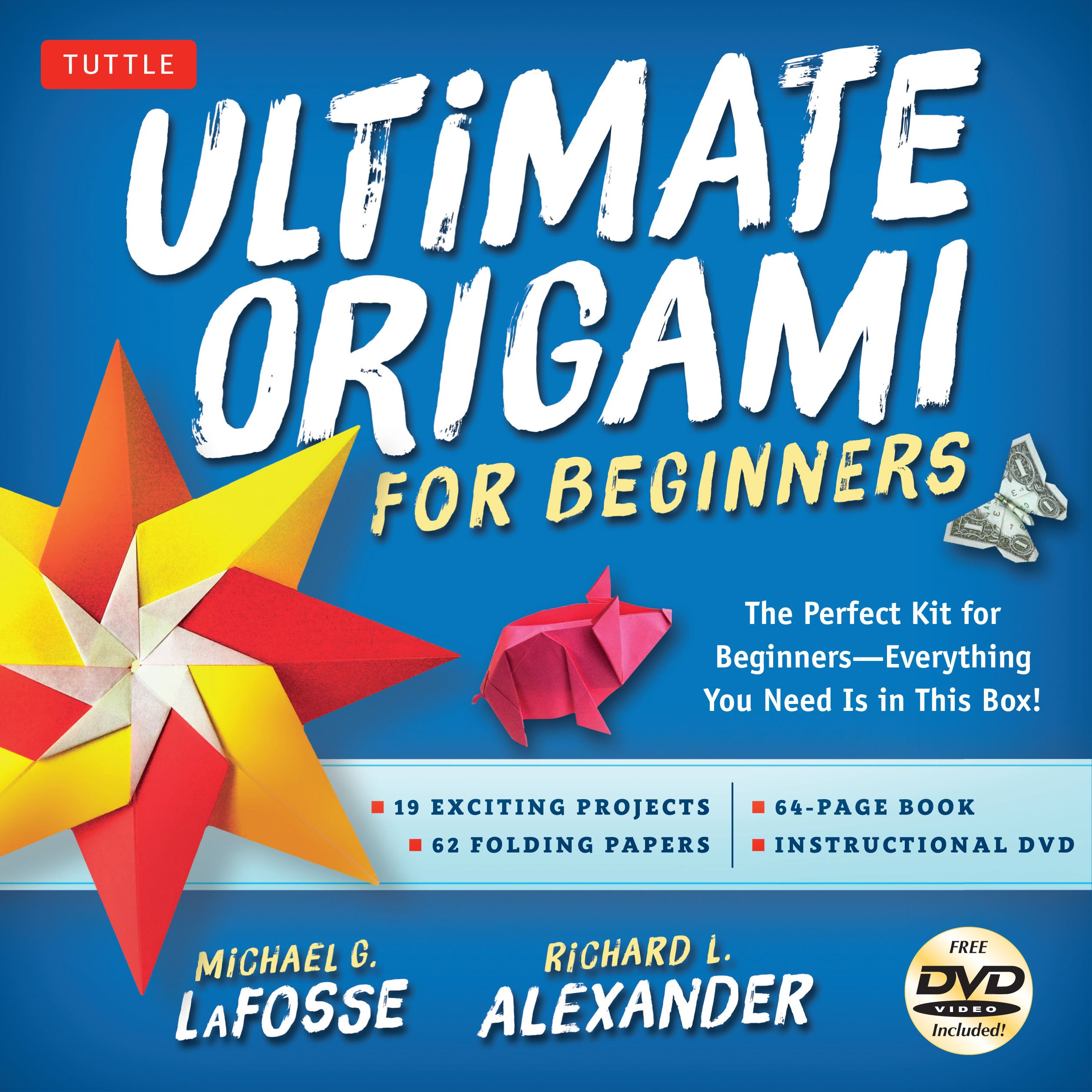 Ultimate Origami for Beginners Kit: The Perfect Kit for Beginners-Everything you Need is in This Box!: Kit Includes Origami Book, 19 Projects, 62 Origami Papers & DVD by Tuttle Publishing