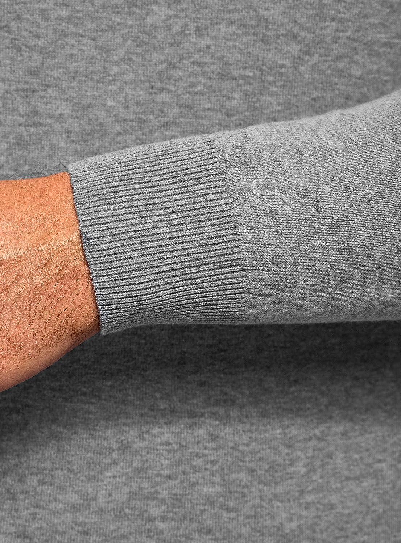 oodji Ultra Mens Basic V-Neck Pullover