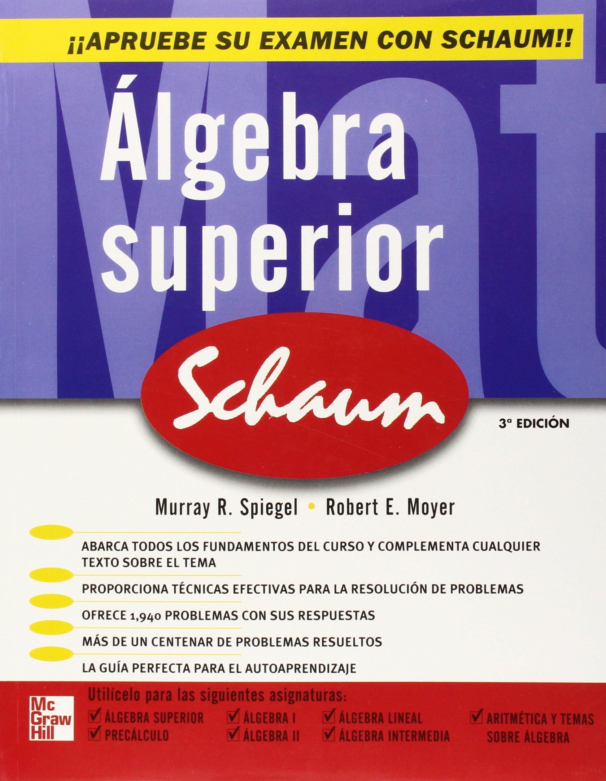 ALGEBRA SUPERIOR - MURRAY SPIEGEL 91HSYEEhmfL
