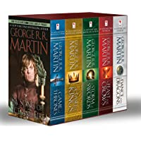 George R. R. Martin's A Game of Thrones 5-Book Boxed Set (Song of Ice and Fire Series): A Game of Thrones, A Clash of Kings, A Storm of Swords, A Feast for Crows, and A Dance with Dragons + CultureFly Game of Thrones Box