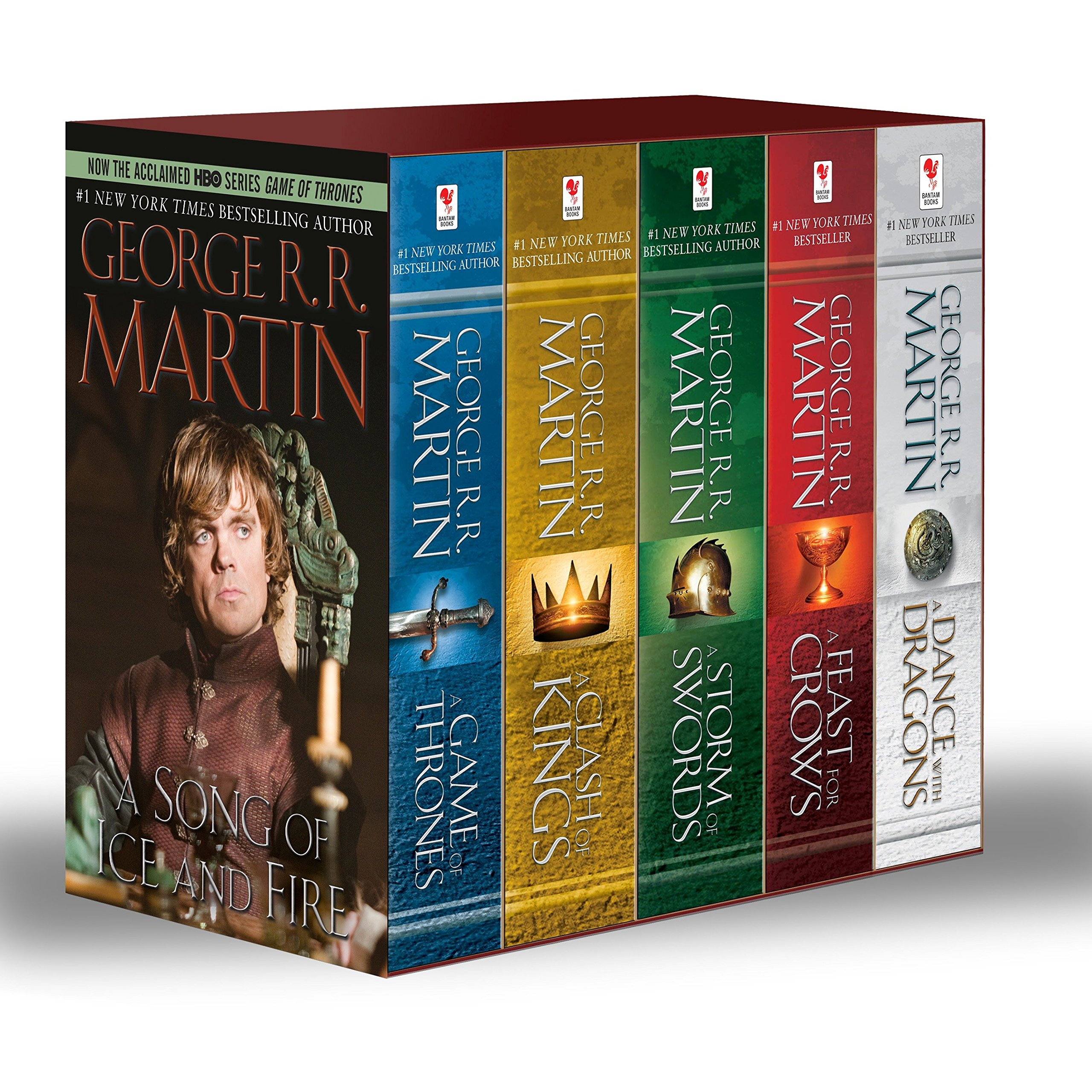 A Game of Thrones A Clash of Kings A Storm of Swords A Feast of Crows A Dance with Dragons George R R Martin Amazon Books