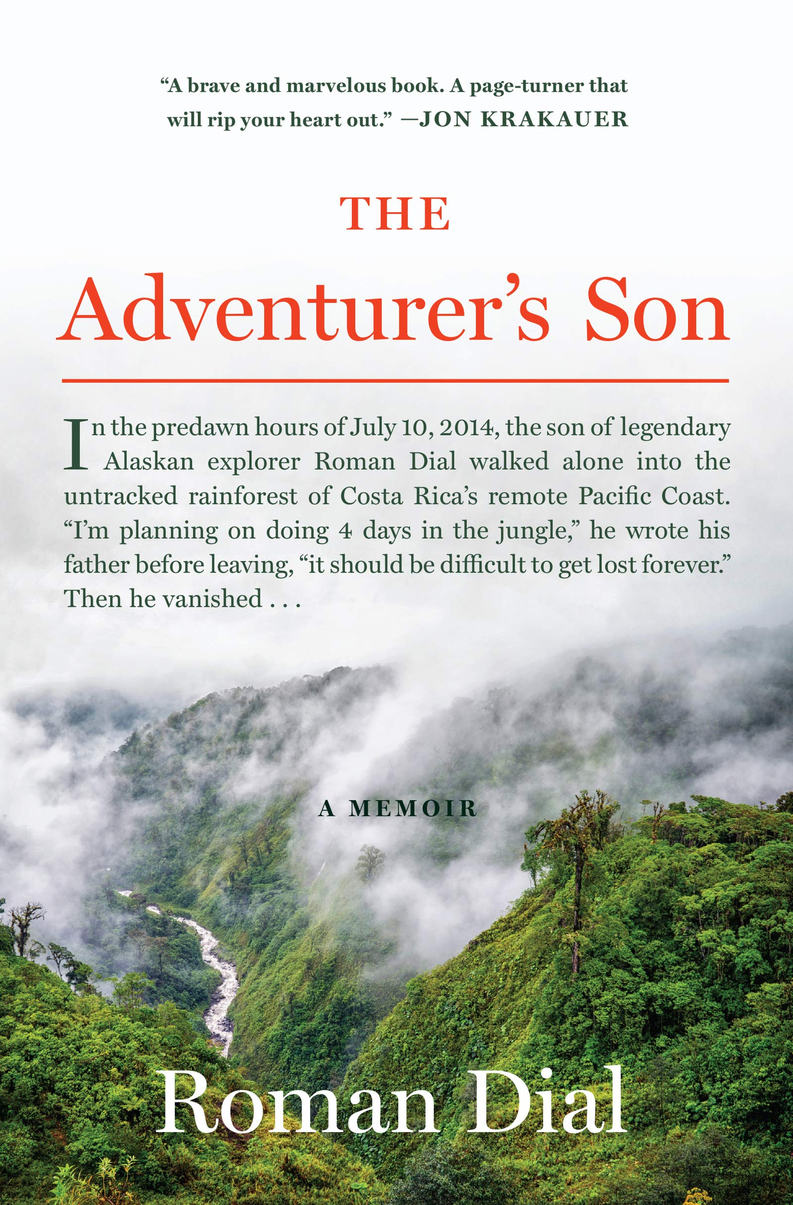 The Adventurer's Son: A Memoir book cover