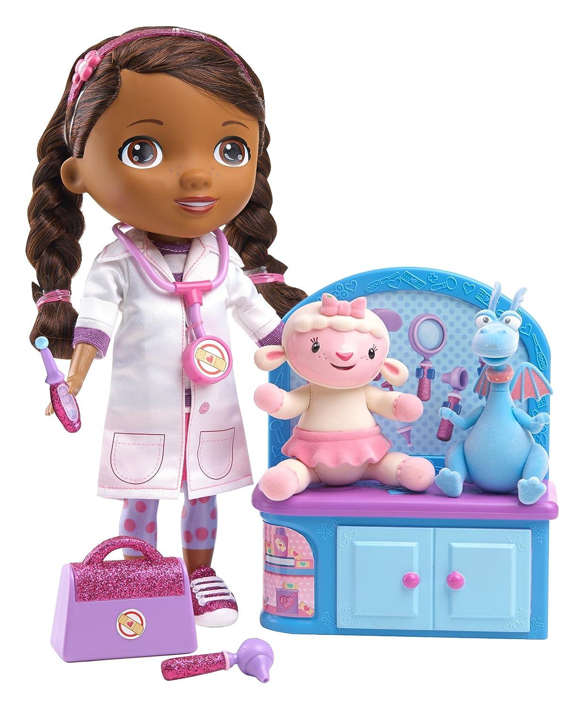 Amazon.com: Disney Doc McStuffins Magic Talkin' Doc & Friends Doll ...