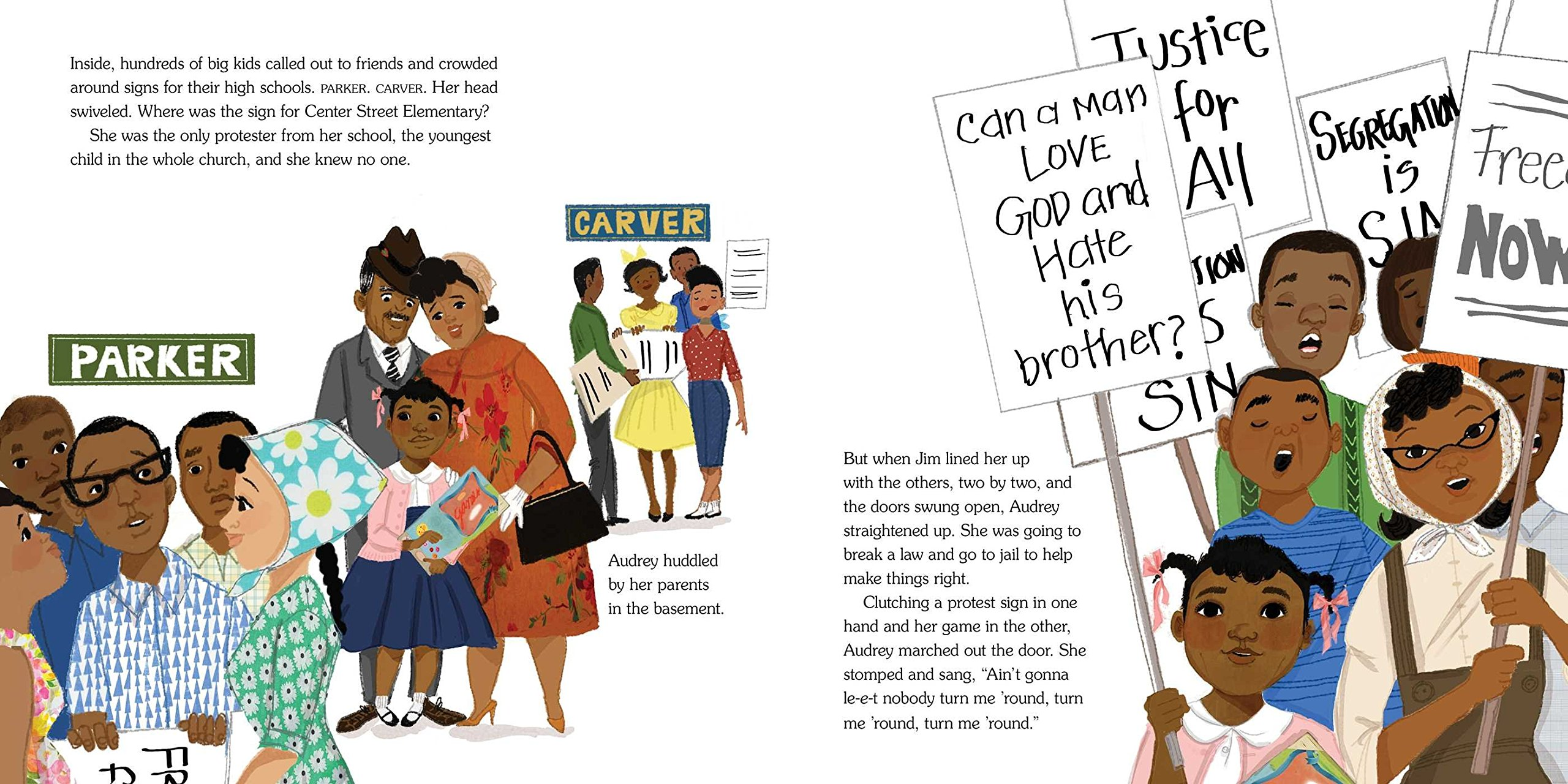 The Youngest Marcher: The Story of Audrey Faye Hendricks, a Young Civil Rights Activist by ATHENEUM (Image #6)