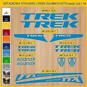 Kit Pegatinas Stickers Bicicleta Trek Equinox - Kit 9-14 Piezas ...
