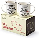 Janazala Probably The Best Grandparents Ever Coffee Mugs, Unique Anniversary Gift For Grandma and Grandpa Grandfather and Grandmother Birthday Gifts, Ceramic, 13 oz Cups Set