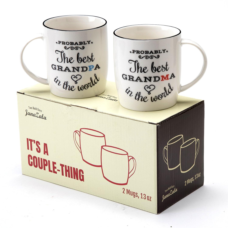 Janazala Paar Tassen für Besten Oma und Opa Set, Probably, Geschenk ...
