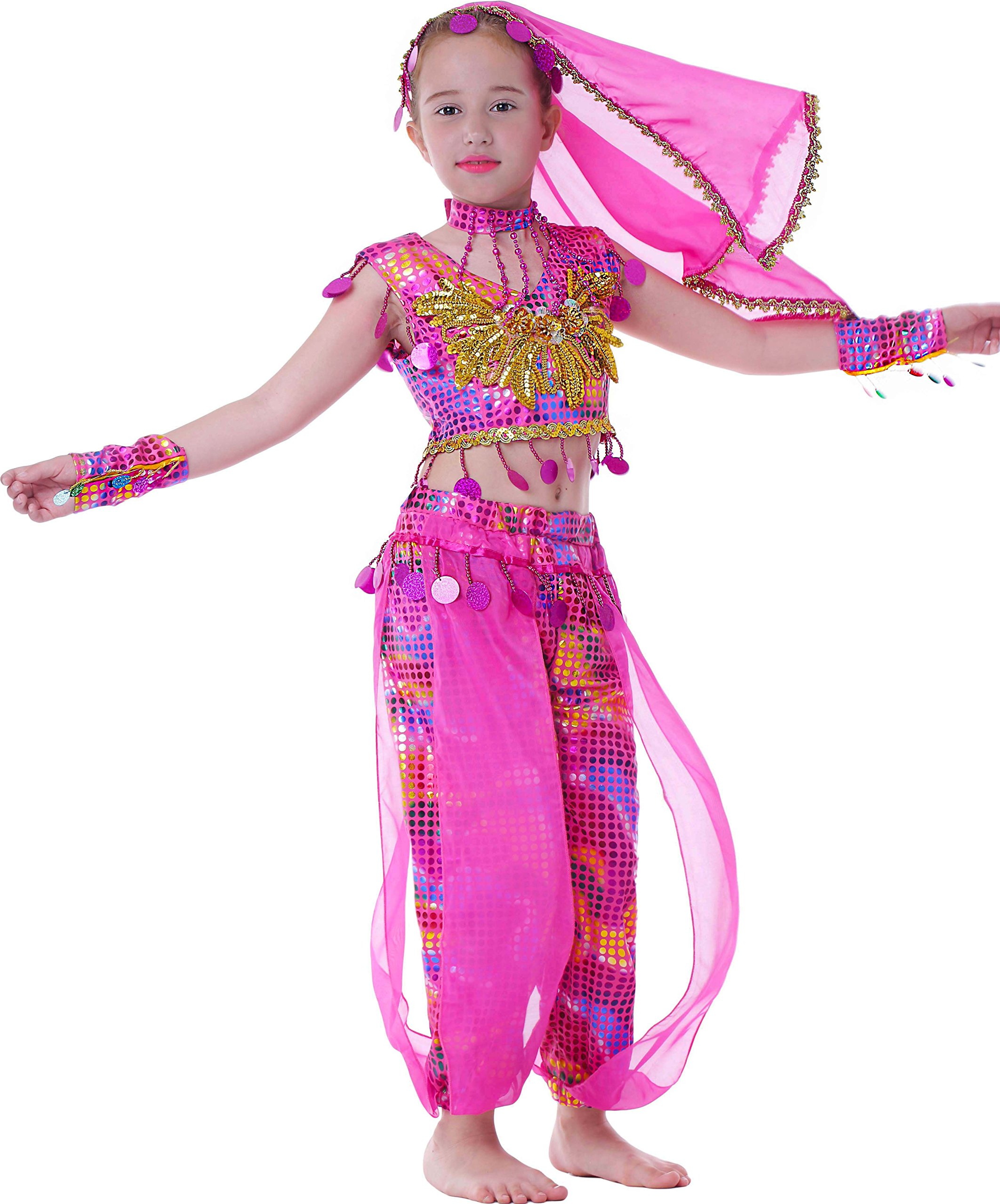 231cb6454a1f Galleon - Seawhisper Kid's Performance India Costume School Show Outfit  Girl Halloween Costumes