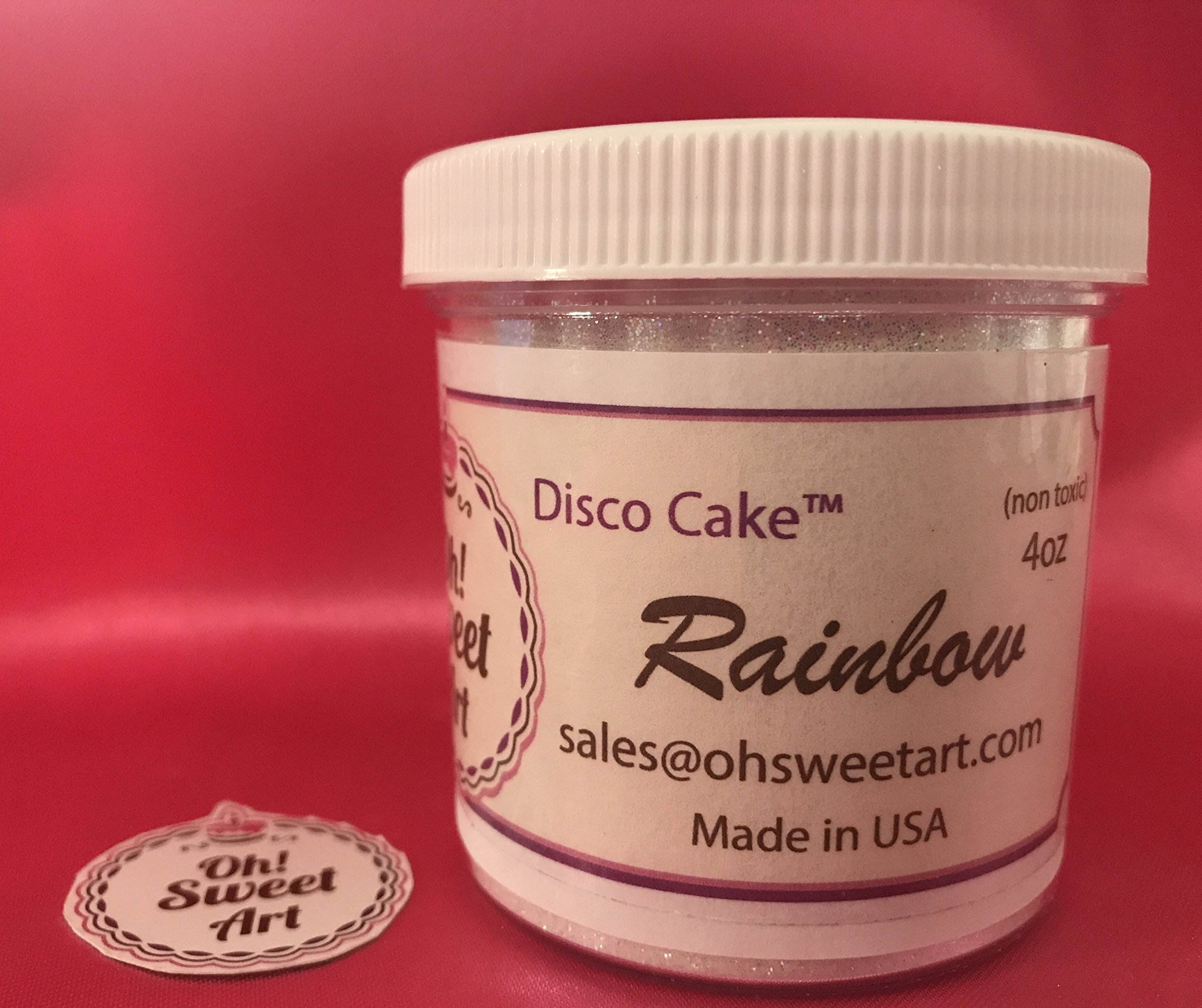 RAINBOW 4 OUNCES 4 OZ Disco Cake cakes, cupcakes, fondant, decorating, dust, cake pops By Oh! Sweet Art …