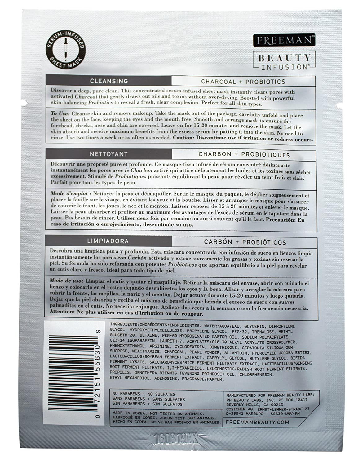 Amazon.com: Beauty Infusion Freeman, Brightening Hibiscus + Vitamin C overnight Mask, 6 Count: Beauty