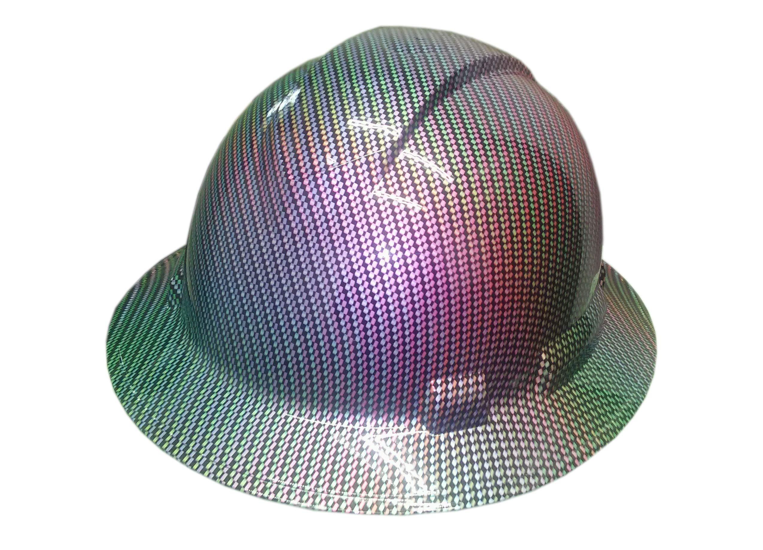 Izzo Graphics Chameleon Carbon Fiber Pyramex Ridgeline Full Brim Hard Hat