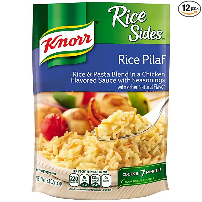 Amazon Com Knorr Rice Sides Rice Side Dish Rice Pilaf 5 3 Oz Pack Of 12 Grocery Gourmet Food