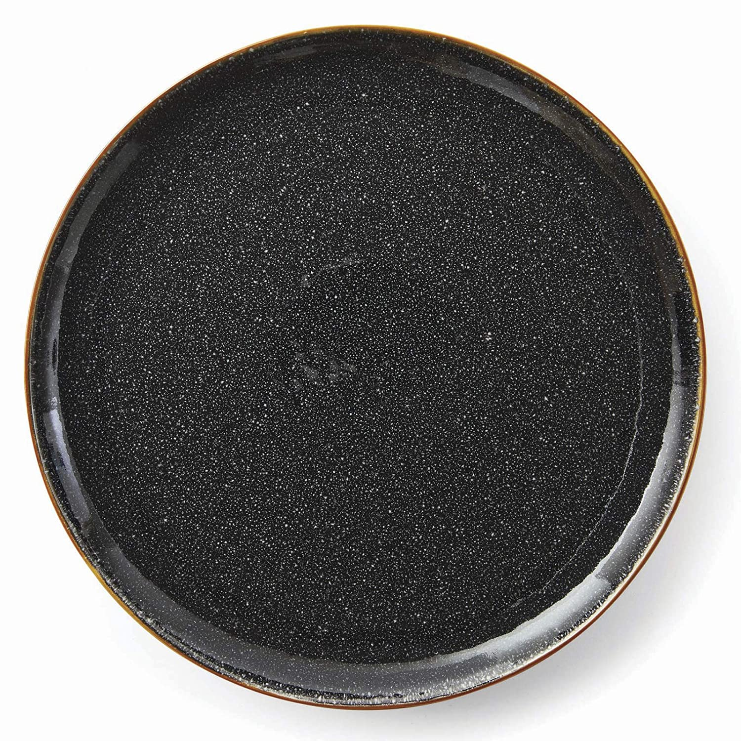Better Homes and Gardens Burns Dinner Plates, set of 4, Black