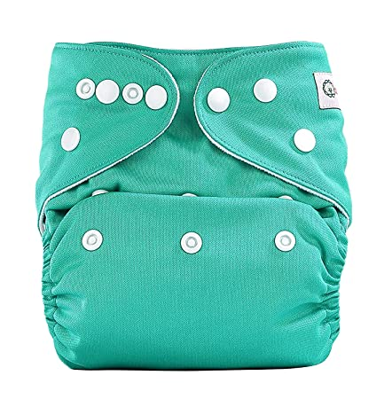 2e9f2635ef1 Bumberry Pocket Diaper (Blue Green) and 1 Microfiber Insert Taped Diapers