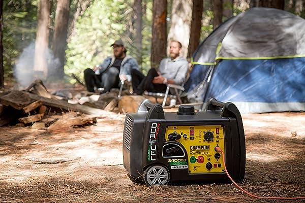 Champion 3400-Watt Dual Fuel RV Ready Portable Inverter Generator with Electric Start
