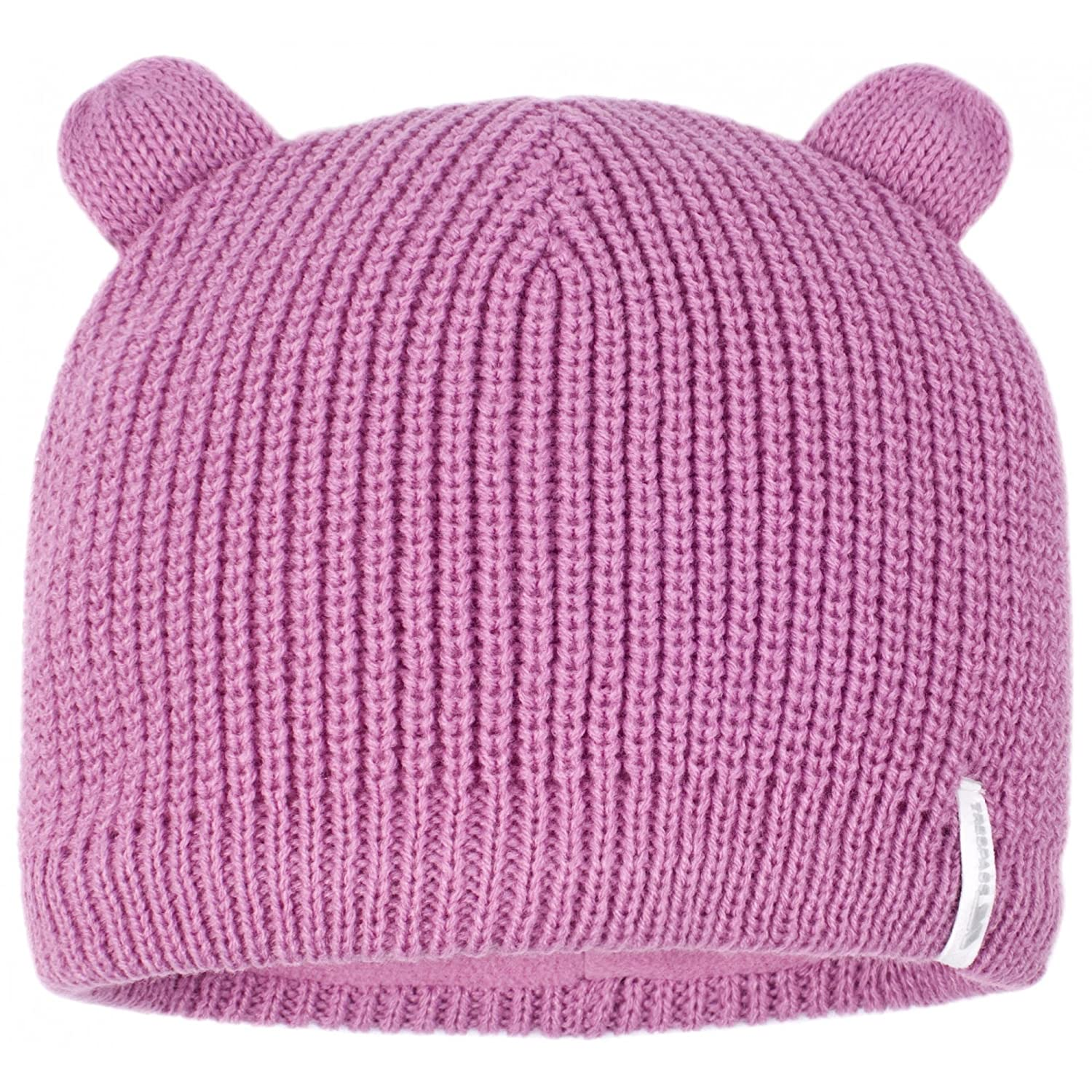 10de7a43 Amazon.com: Trespass Childrens/Kids Toot Knitted Winter Beanie Hat (5/7  Years) (Blossom): Clothing