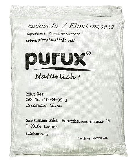 Sulfato de magnesio 25kg, MgSO4, ...