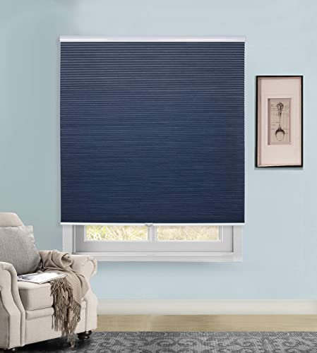 Rama Rose Cordless Cellular Shades Blackout Pleated Fabric Honeycomb Window Blinds