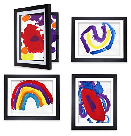 Li l Davinci Art Gallery – Set of 4 Black Frames for 8.5×11 artwork