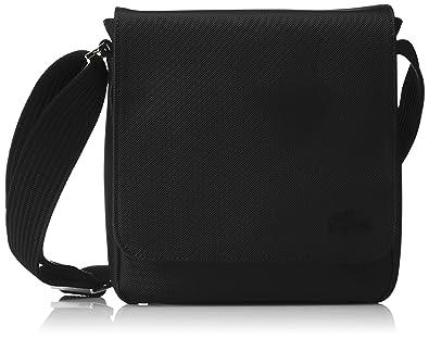 Lacoste Sac Homme Access Premium, Bandouliere, Noir (Black), 21x6.5x20 0a693e1fcb81