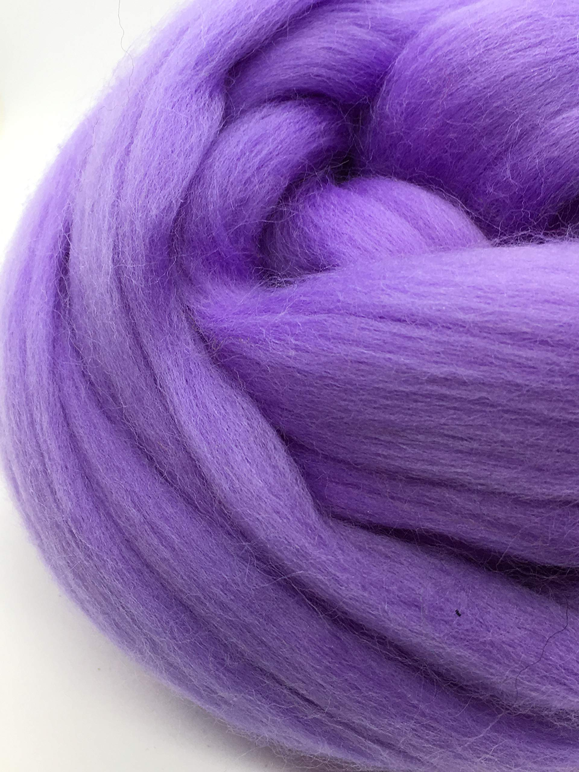 Periwinkle Merino Wool Top Roving Fiber Spinning, Felting Crafts USA (4 pounds) by Shep's Wool (Image #8)