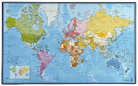 Viquel 135409–06 Schreibunterlage Weltkarte