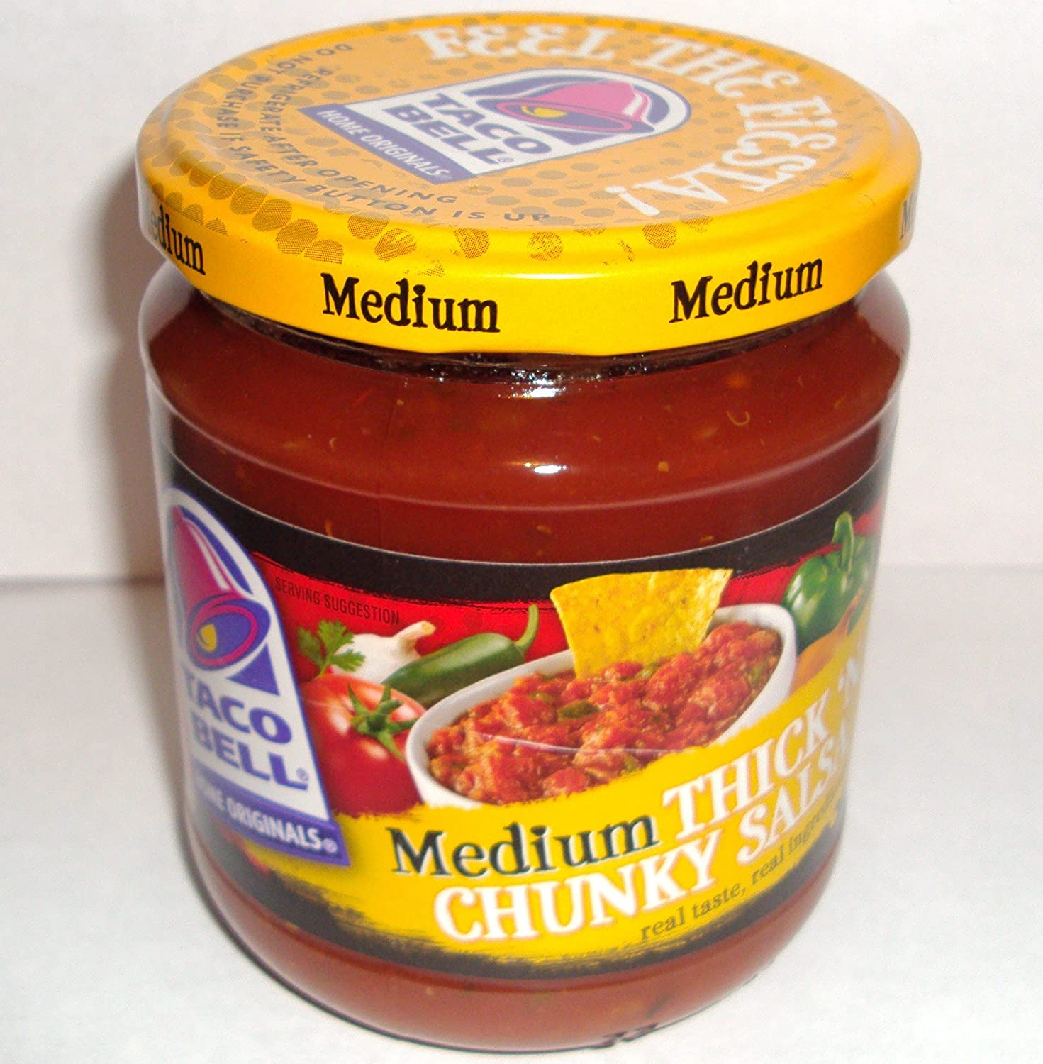 Amazon.com: Taco Bell Thickn Chunky Medium Salsa, 16 oz. Jar (Pack of 6)