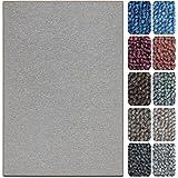 shaggy teppich flauschiger hochflor wohn teppich einfarbig uni in mocca f r wohnzimmer. Black Bedroom Furniture Sets. Home Design Ideas