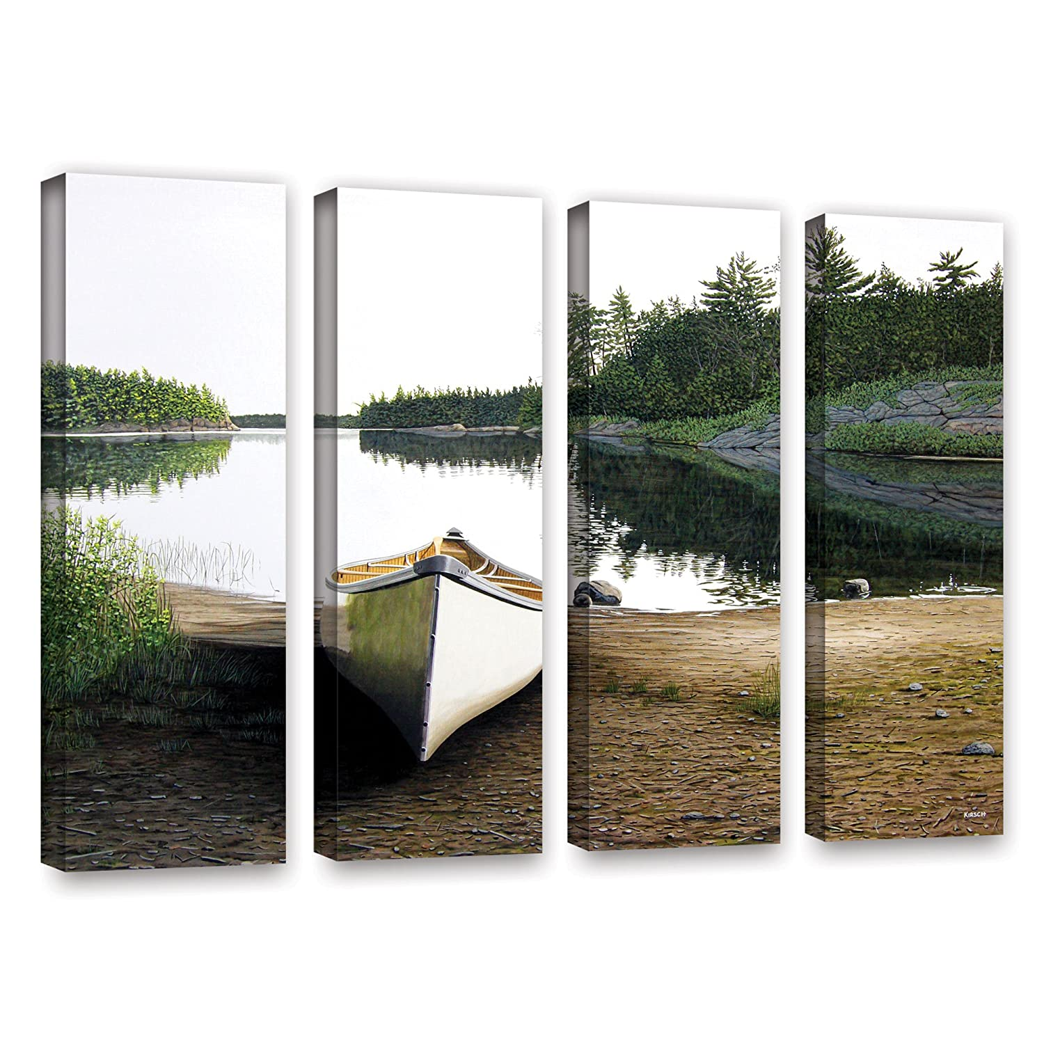 36 by 48 ArtWall Ken Kirshs Silent Retreat-1 4 Piece Gallery-Wrapped Canvas Set