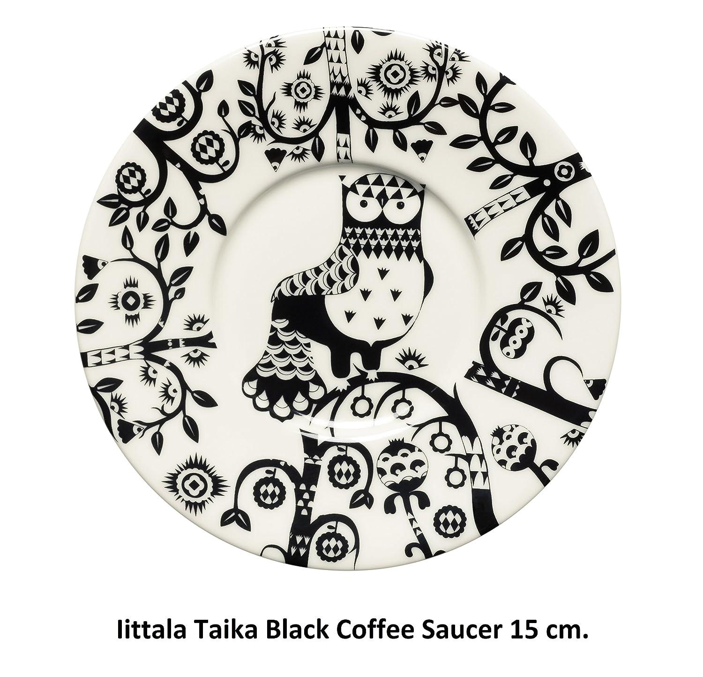 Iittala Taika Negro Café / Cappuccino Copa Saucer: Amazon.es: Hogar
