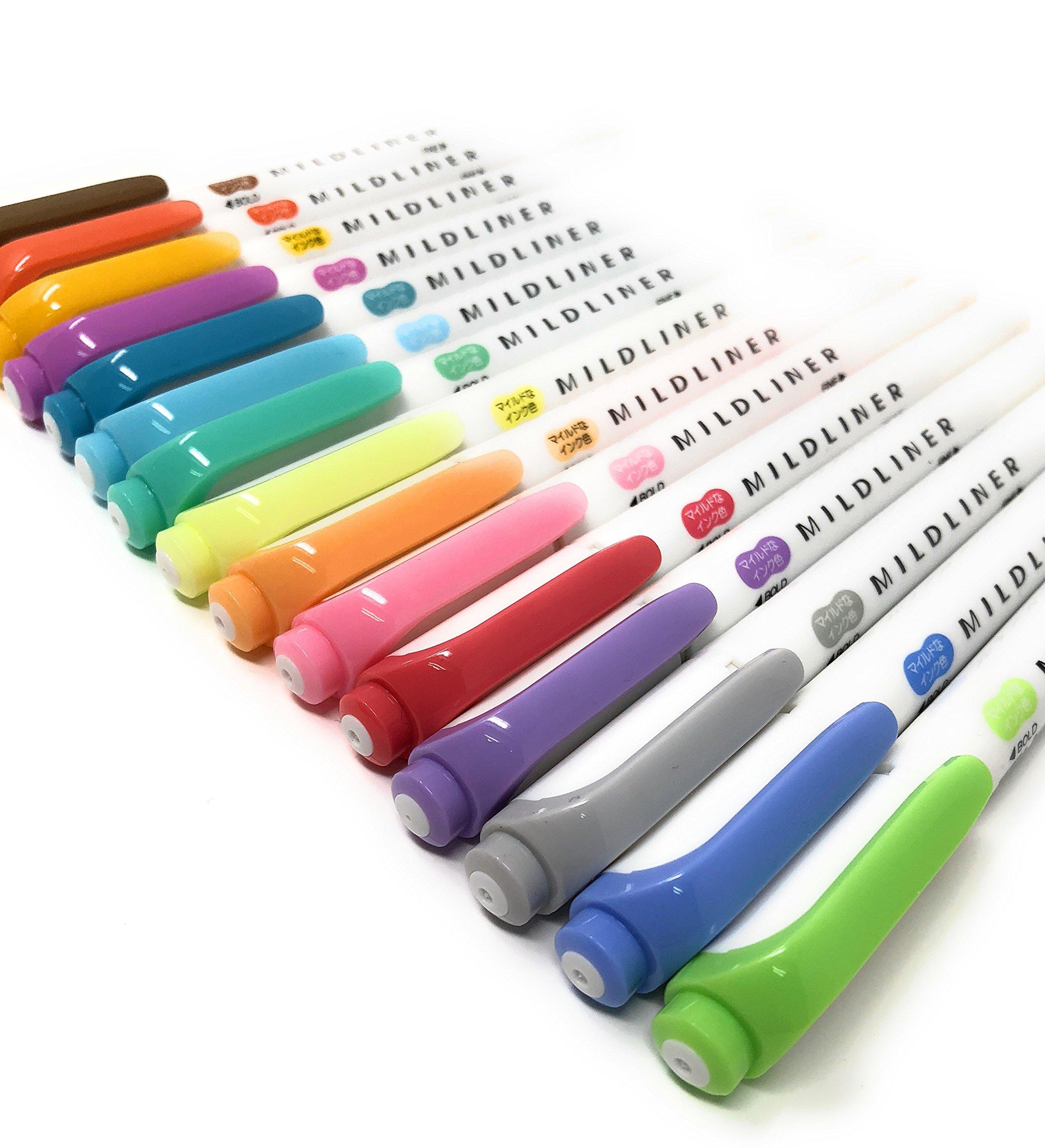 Zebra MILDLINER WKT7-5C (5-Color Set) / WKT7-5C-RC (5-Color Set) /WKT7-5C-NC (5-Color Set)3 pack With original pen case by Lupi Lupi (Image #4)