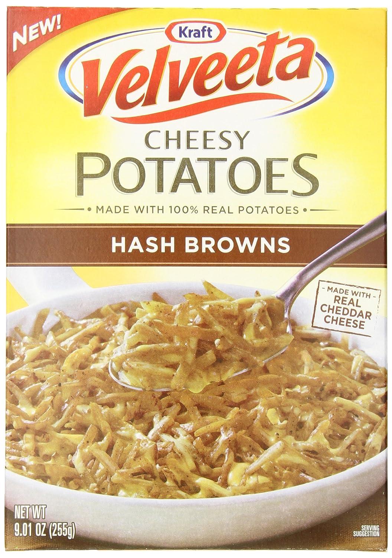 Amazon Com Velveeta Kraft Cheesy Potatoes Box Hash Browns 9 01 Ounce Pack Of 6 Packaged Potato Side Dishes Grocery Gourmet Food